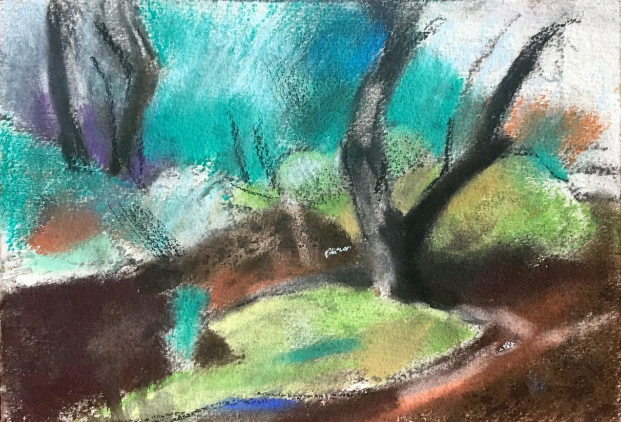 Michael Knight Donnelly River study 1 - pastel on paper